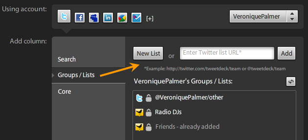 how to add someone to tweetdeck