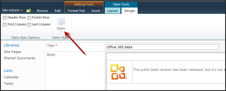 "Announcements ""Gotchas"" On SharePoint 2010 Site Pages"