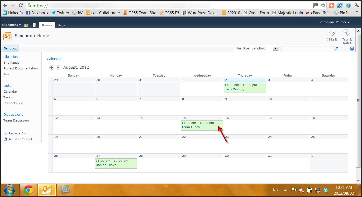 Weekly Calendar View Sharepoint : Sharepoint calendar image new template site