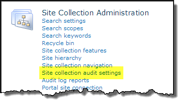 Site-Collection-Audit-Settings