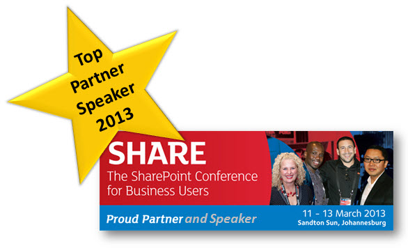 Top Partner Speaker Share 2013