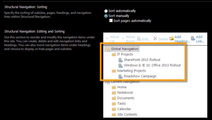 Navigation on SharePoint 2013 1