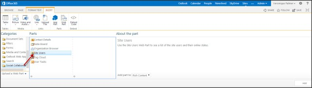 SharePoint 2013 Site Users Web Part