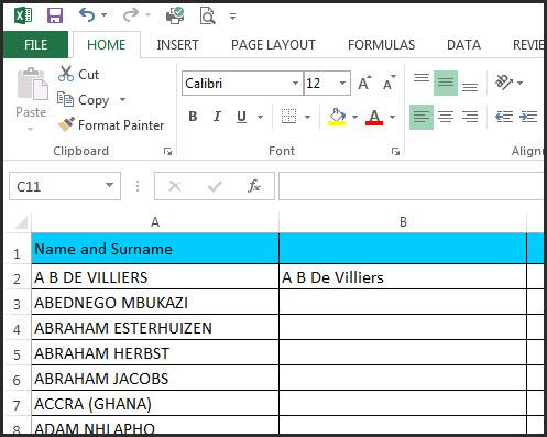 Excel Capitals Formula 0