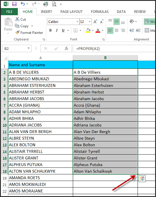 Excel Capitals Formula 2