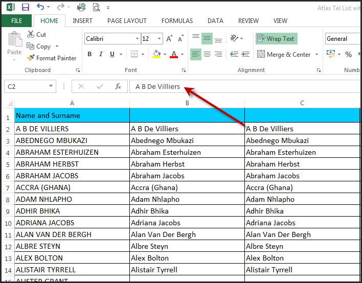 Excel Capitals Formula 4