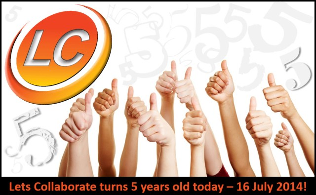 Lets Collaborate Turns 5 Years Old