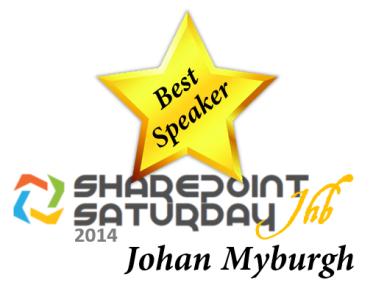 Best Speaker - Johan Myburgh