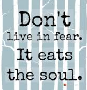 living in fear Many people experience fear as an extremely negative feeling that limits them to doing what they want it is true that fear, like no other feeling, can limit.
