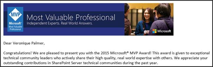 SharePoint MVP 2015