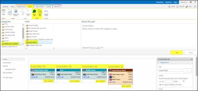Script Editor Web Part