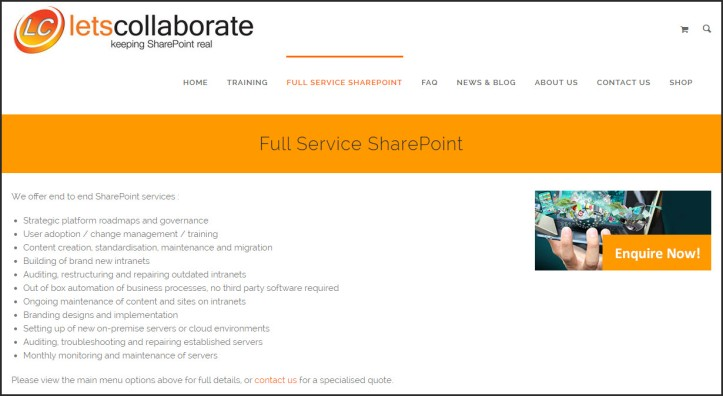 Full Service SharePoint