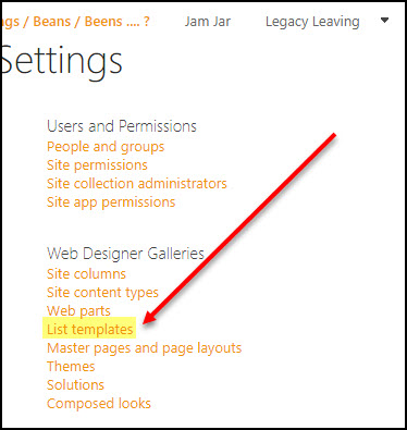 Save Modern SharePoint Lists and Libraries as Templates and Move