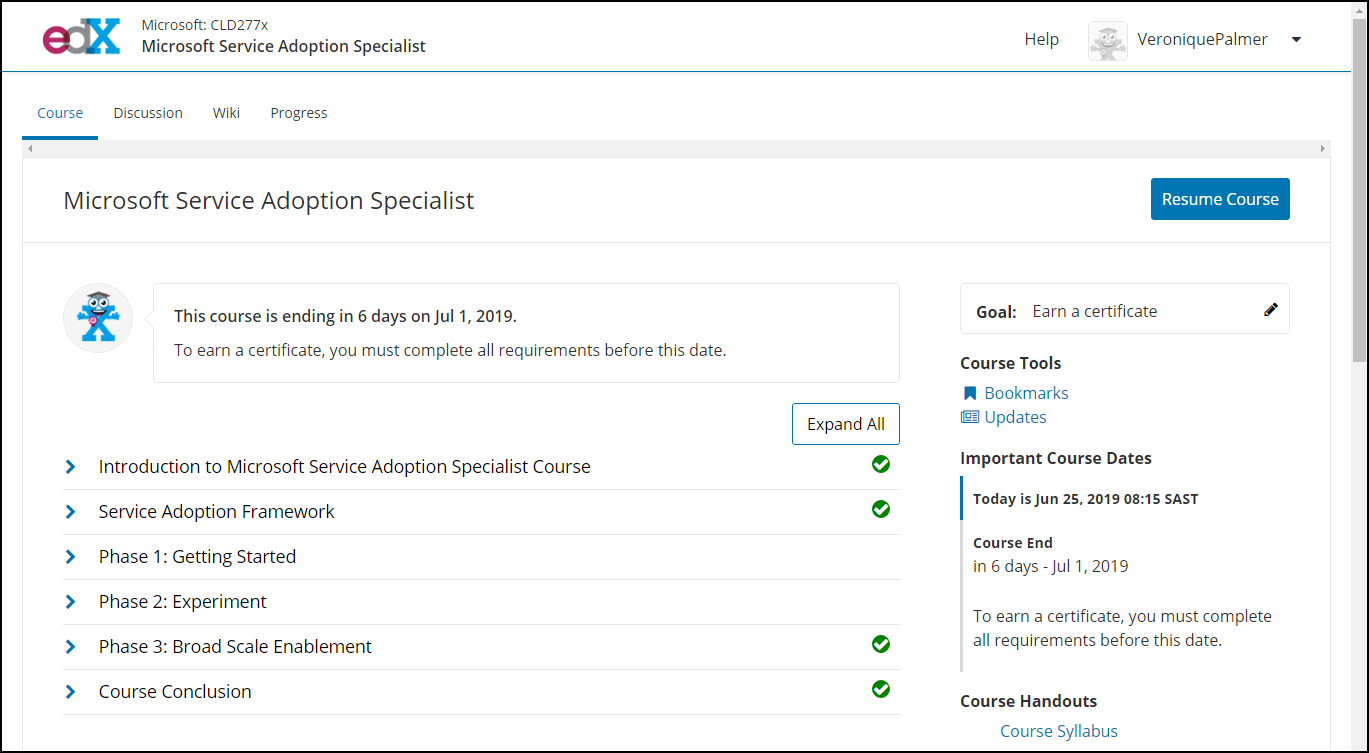 Microsoft Service Adoption Specialist Exam Curriculum