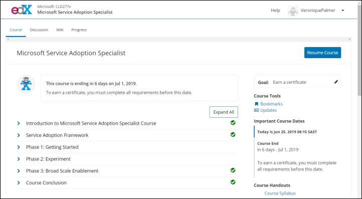 Microsoft Service Adoption Specialist Exam Curriculum