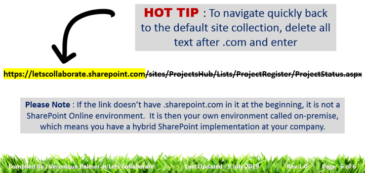 Hot tip SharePoint Online links and hybrid solutions